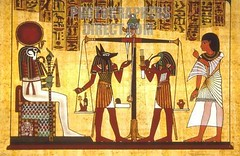 anubis-and-judgment (The Goddess Anna Sophia) Tags: artwork papryus thoth anubis ibis gods pharaonic hieroglyphics egypt last judgement myth belief scales souls death rites passage co