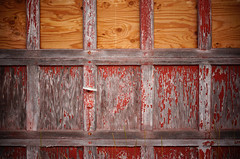 (jtr27) Tags: dsc01465e jtr27 sony alpha nex7 nex emount mirrorless ilc ilce csc sigma 60mm f28 dn dna dnart sigmaart red garage door jefferson newhampshire nh newengland peelingpaint