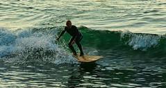 Just fun (Seahorse-Cologne) Tags: tretat normandie france frankreich summer beach mer atlantik plage lesoir sunset soire surfing surf september