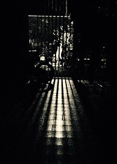 Blind Sight.. (frankhimself) Tags: window house highlights inside dark night reflections shadows lighting blinds