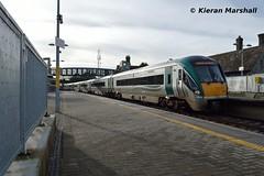 22016+22008 arrive at Portarlington, 24/9/16 (hurricanemk1c) Tags: railways railway train trains irish rail irishrail iarnród éireann iarnródéireann portarlington 2016 22000 rotem icr rok 4pce 22016 1545galwayheuston