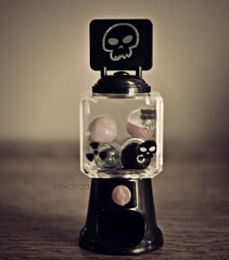 Want some Candy? (Lawdeda ) Tags: wednesday addams onwednesday blythe doll custom ebl xanamaneca tiny toy story candy machine evil skull indoor picture picmonkey