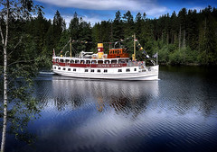 Showboat along the Telemark Canal. Norway (JRJ.) Tags: norge norway canal waterways landscape telemark henrik ibsen nature visitnorway