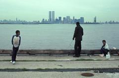 WTC 221 (stevensiegel260) Tags: newyorkskyline manhattan skyline worldtradecenter twintowers manhattanskyline statueofliberty people fisherman 1980s
