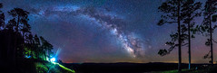 Escarpment Trail Milky Way Panorama (The Charliecam) Tags: panorama michigan michigansupperpeninsula michiganfavorites milkyway longexposure stars canon6d tamron1530mm lakeoftheclouds porcupinemountains wilderness