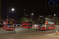 Arriva London VLW148 LJ03MBU Route 254 Aldgate (TfLbuses) Tags: tfl public transport for london red double decker buses night arriva stagecoach wrightbus gemini volvo b7tl alexander dennis trident enviro 400 city hybrid