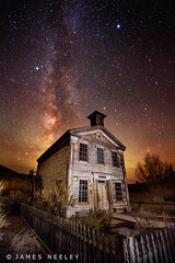 Night School - A Tutorial (James Neeley) Tags: nightphotography montana ghosttown schoolhouse milkyway bannack jamesneeley