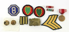 13. Vintage Military Badges, Medals