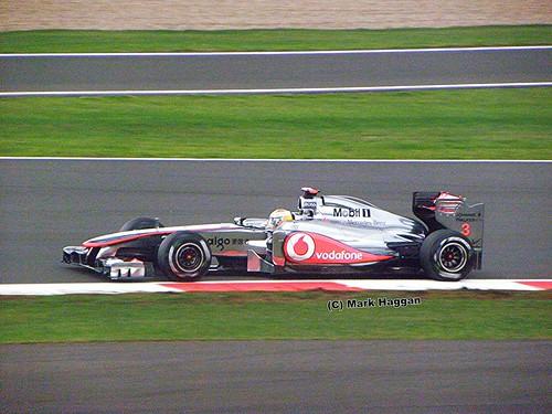 Lewis Hamilton in his McLaren F1 car at the 2011 British Grand Prix at Silverstone