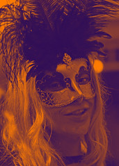 purple & orange gradient filter (hansecoloursmay) Tags: orange purple mask feathers photoshoppery