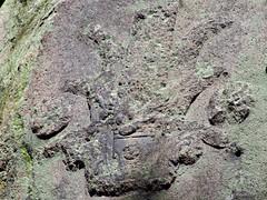 Vestigio prehispnico (booxmiis) Tags: mxico mexico mexicocity df aztec archeology basrelief chapultepec arqueologa azteca ciudaddemxico bosquedechapultepec bajorrelieve glifo booxmiis
