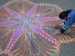 Sand paintings by Joe Mangrum, Union Square, NY (lotos_leo) Tags: urban streetart ny newyork graffiti sand mural outdoor paintings mandala unionsquare joemangrum