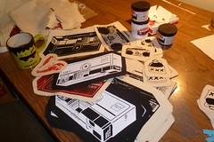 New Projects! (made by mauk) Tags: screenprint sewing craft catnip cattoy wristlet madebymauk