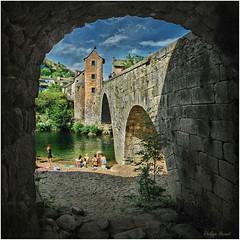 Pont de Montvert - Cévennes 2012 (Philippe Hernot) Tags: pontdemontvert lozère 48 cévennes languedocroussillon france philippehernot carré square kodachrome village pierres nikond700 nikon posttraitement