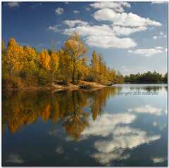 (tozofoto) Tags: travel autumn trees light sky lake holiday reflection travelling nature water colors clouds canon landscape october bravo europe hungary natureza zala contry supershot flickrdiamond tozofoto fleursetpaysages bewiahn
