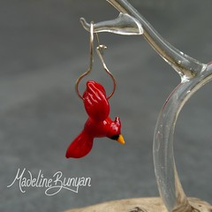 "Cardinal Earrings • <a style=""font-size:0.8em;"" href=""https://www.flickr.com/photos/37516896@N05/8104761796/"" target=""_blank"">View on Flickr</a>"