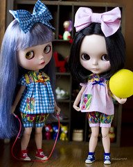 time for some fun? (JennWrenn) Tags: yellow ball shoes doll play rope suit gingham monica converse blythe rement skipping mallorie seemyprofilefordetails