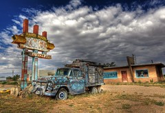 Ranch House Cafe (Ken Yuel Photography) Tags: signs newmexico route66 colorful roadtrips roadside diners cafes ranchhousecafe fadingamerica chevtruck bestroadtripever digitalagent kenyuel closedcafes originalroute66 closeddiners meicanfood tucumcara fadedcafes sightsalongroute66 americanroadsideattractions oldchevtruck