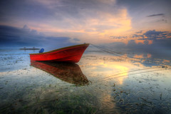 Great Mirror (Pandu Adnyana (thanks for 100K views)) Tags: bali reflection beach indonesia mirror boat exposure multiple hdr sanur pantaikarang