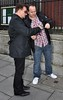 Bono fan Gary Paul meets him outside The Merrion Hotel Dublin, Ireland