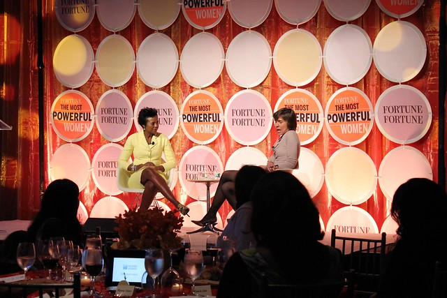 Mellody Hobson (Ariel Investments) and Pattie Sellers (Fortune)