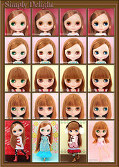 Neo Blythe: Comparison of Simply Delight (SiDe), Prima Dolly Adorable Aubrey (PDAA), Beatrice Vest (BV) and Prima Dolly Aubrena (PD3Au)