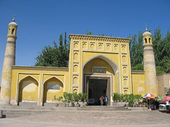 Mosque in Kashgar, China (mbphillips) Tags: xinjiang 新疆 中国 west mosque muslim 中國 شىنجاڭ kashgar 喀什 قەشقەر fareast asia アジア 아시아 亚洲 亞洲 china 중국 mbphillips canonixus400 islam 이슬람교 伊斯蘭教 伊斯兰教 geotagged photojournalism photojournalist