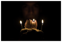 295/366 (Ashley Lowry) Tags: birthday old portrait people man male cake project happy person candles day candle year husband blowing blow number age older hubby 40 365 wish 295 makeawish day295 366 lifebegins