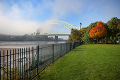 Autumn in Runcorn..... (Chrisconphoto) Tags: autumn trees mist fog runcorn widnes hff runcornbridge