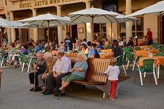 Life on the Plaza de Espana (nebulous 1) Tags: life people spain espana astorga plazadeespana