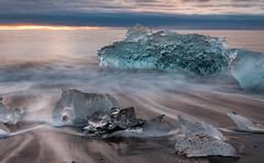 Visions Of The Emerald Beyond (Kristinn R.) Tags: ocean blue sea sky sun ice iceage clouds sunrise blacksand iceland nikon ship ships glacier glaciers iceberg icefields icebergs jkulsrln the d3x nikonphotography breiamerkursandur kristinnr