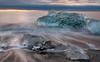 Visions Of The Emerald Beyond (Kristinn R.) Tags: ocean blue sea sky sun ice iceage clouds sunrise blacksand iceland nikon ship ships glacier glaciers iceberg icefields icebergs jökulsárlón the d3x nikonphotography breiðamerkursandur kristinnr
