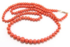 1001. Graduated Coral Bead Necklace