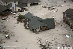 House Beached By Hurricane Sandy (Greenpeace USA 2015) Tags: usa storm newjersey sandy hurricane aerial climatechange globalwarming