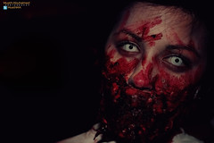Halloween Zombie - bloody face (Muath AbuHaimed's PhotoGraphy) Tags: usa halloween canon miami saudi arabia riyadh 550d t2i