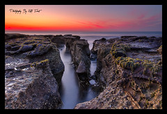 Burwood (Kiall Frost) Tags: ocean blue red sun green beach water sunrise newcastle nikon rocks australia nsw burwood leefilters d7000 kiallfrost