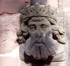 The bearded one - Nov 2009 (DizDiz) Tags: king cheshire stmaryschurch nantwich olympusc720uz headedcorbel