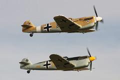 Buchons (Pentakrom) Tags: world show two museum airplane war display aircraft aviation military air wwii aeroplane duxford second imperial hispano warbird bf109 messerschmitt iwm me109 buchon gbwue gawhe