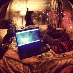 (gbriellelee) Tags: camera light house love window night lights bed bedroom pretty ben laptop fisheye forgotten cheating iphone