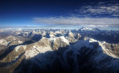 high himalaya and mt. everest (mariusz kluzniak) Tags: blue nepal light sky snow mountains window clouds plane lens landscape high asia mt view angle zoom sony wide sigma super peaks alpha himalaya 1020mm incredible everest range 77 himalayas slt lenses highest a77 the4elements
