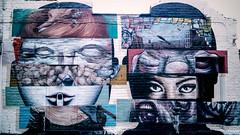 Mixed Faces (garryknight) Tags: london art face mobile graffiti mixed mix paint phone cellphone vignette lightroom mixedup samsunggalaxys2