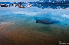 Lake Bottom, Lake Tahoe (Charlotte Hamilton Gibb) Tags: california winter lake landscape tahoe laketahoe places sierranevada sandharbor geographicfeatures weatherandseasons charlottegibbphotography