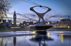 Water World... (JH Images.co.uk) Tags: city uk travel bridge blue light sunset england sky urban colour reflection building london tower art water westminster st architecture clouds digital photoshop hospital geotagged photography lights photo big high nikon europe long exposure raw dynamic ben unitedkingdom britain thomas united capital illumination kingdom landmark illuminated le hour processing nikkor dslr range architeture hdr foutain lightroom gabo urbex d300 tonemapped photomatrix touristattration