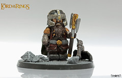 Gimli, son of Glin, Lord of the Glittering Caves (.mclovin.) Tags: lego dwarf son lord rings figure gimli fellowship moria gloin