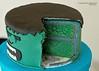 Superhero Cake Inside (KiwiMiriam) Tags: cake chocolate ganache superhero fondant