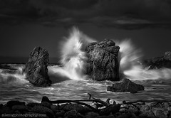 The sea was angry that day, my friends (Silent G Photography) Tags: california ca blackandwhite cali mono nikon rocks waves pacific crash fineart bigsur pch highway1 nik garrapatastatepark garrapata d800 pacificcoasthighway monochromo 2013 niksoftware garrapatasp markgvazdinskas silentgphotography silentgphoto
