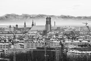 Blick vom Olympiaberg; München / Munich
