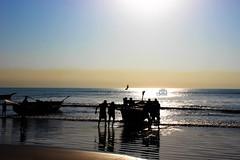 Fish&Fisher (db3rdeye) Tags: sun beach boat fishermen vizag sunraise steelplant visakhapatnam appikonda