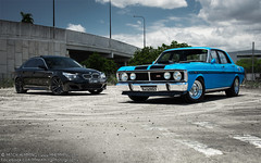 Falcon 351GT + BMW 545i 'XII' (Mitch Hemming) Tags: ford mitch falcon bmw hemming 545i 351gt mhemming