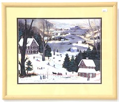 94. Janet Munro Folk Art Signed Print